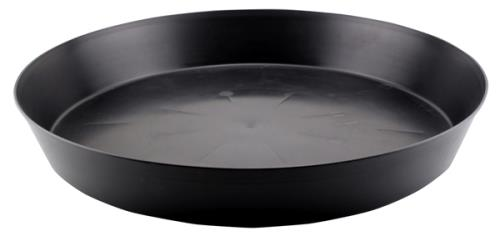 Black Premium Plastic Saucer 18 in   100/Case