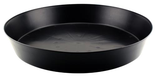 Black Premium Plastic Saucer 20 in   100/Case