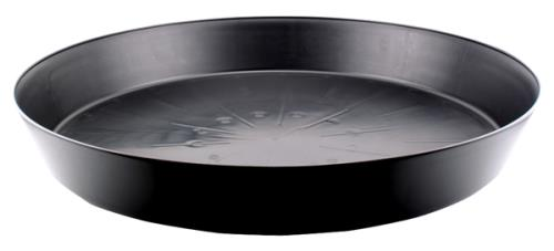 Black Premium Plastic Saucer 25 in   50/Case