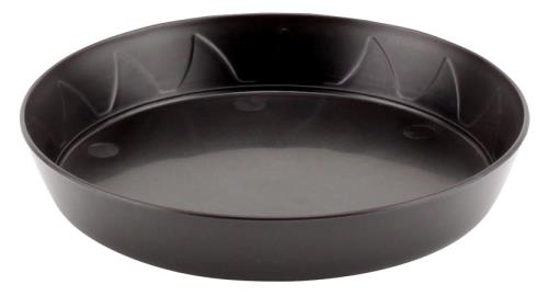 Gro Pro Heavy Duty Black Saucer - 6 in   500/Case1000/Case