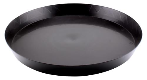 Gro Pro Heavy Duty Black Saucer - 18 in   100/Case
