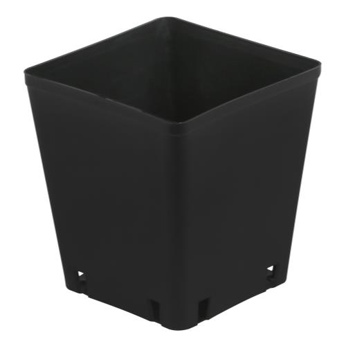 Gro Pro Black Plastic Square Pot 5 x 5 x 5.25 in   1000/Case