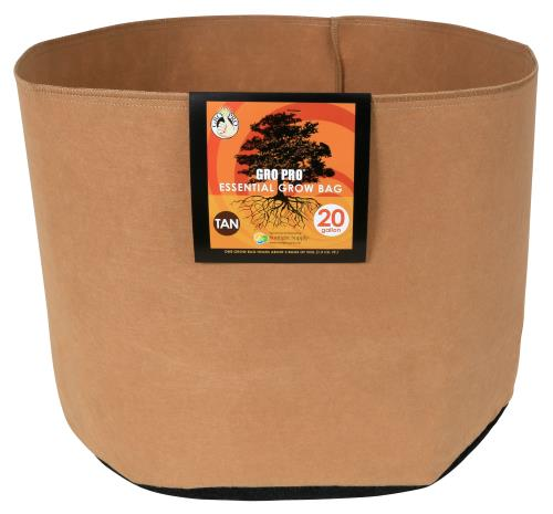 Gro Pro Essential Round Fabric Pot - Tan 20 Gallon   200/Case
