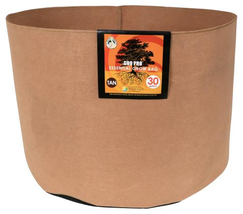 Gro Pro Essential Round Fabric Pot - Tan 30 Gallon   200/Case