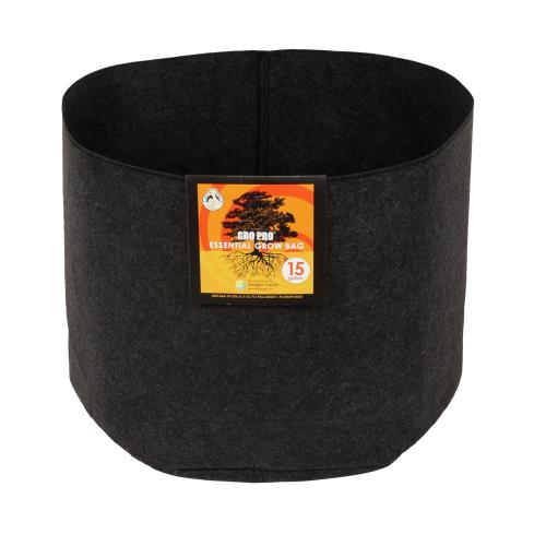 Gro Pro Essential Round Fabric Pot - Black 15 Gallon   100/Case