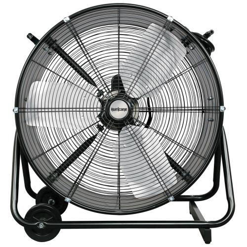 Hurricane Pro Heavy Duty Adjustable Tilt Drum Fan 24 in (2/Case)