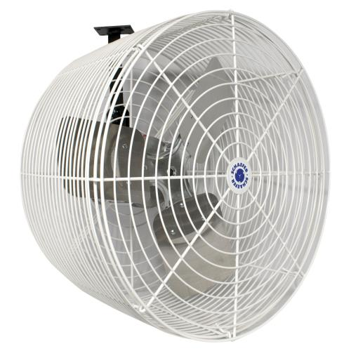 Schaefer Versa-Kool Circulation Fan 20 in w/ Tapered Guards, Cord & Mount - 5470 CFM
