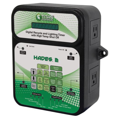 Titan Controls Hades 2 - Digital Recycle and Light Timer w/ High Temp Shut-Off