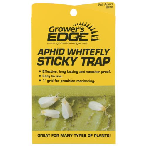 Grower's Edge Sticky Aphid Whitefly Trap 5/Pack