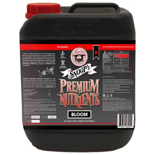 Snoop's Premium Nutrients Bloom B Non-Circulating 10 Liter (Soil and Hydro Run To Waste)