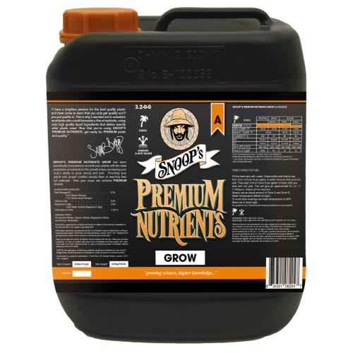 Snoop's Premium Nutrients Grow A Coco 5 Liter
