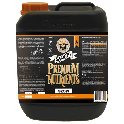 Snoop's Premium Nutrients Grow A Coco 20 Liter
