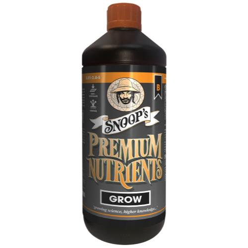 Snoop's Premium Nutrients Grow B Non-Circulating 1 Liter (Soil and Hydro Run To Waste)