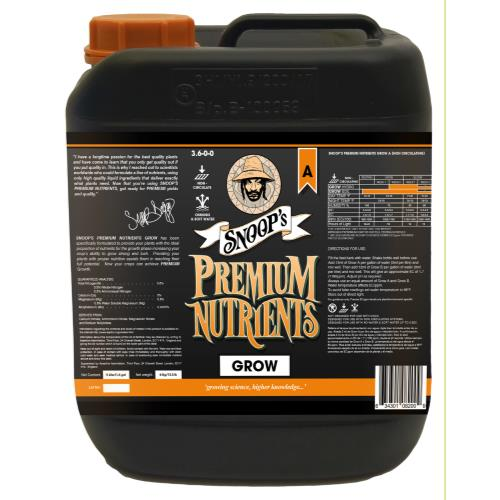 Snoop's Premium Nutrients Grow A Non-Circulating 5 Liter (Soil and Hydro Run To Waste)