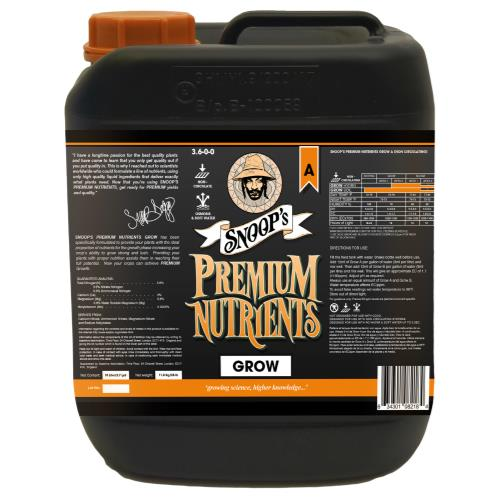 Snoop's Premium Nutrients Grow A Non-Circulating 10 Liter (Soil and Hydro Run To Waste)