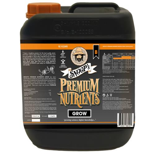 Snoop's Premium Nutrients Grow B Non-Circulating 10 Liter (Soil and Hydro Run To Waste)
