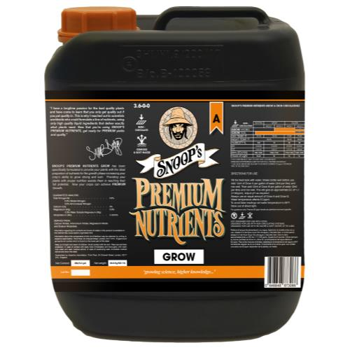 Snoop's Premium Nutrients Grow A Non-Circulating 20 Liter (Soil and Hydro Run To Waste)