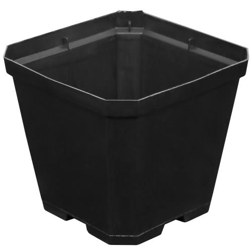 Black Plastic Pot 4 in x 4 in x 3.5 in (100/Pack)