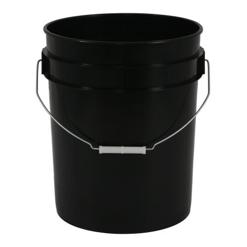 Black Plastic Bucket 5 Gallon(20/Pack)