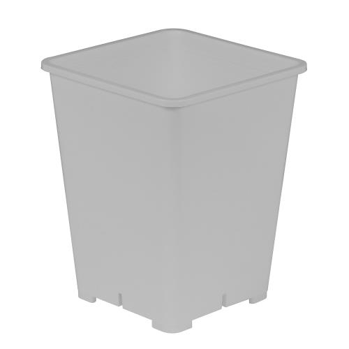 Gro Pro Premium White Square Pot 6 in x 6 in x 8 in (20/Pack)
