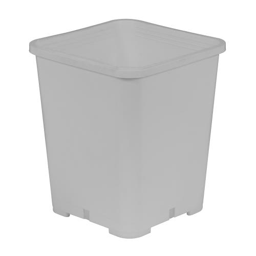 Gro Pro Premium White Square Pot 7 in x 7 in x 9 in (20/Pack)