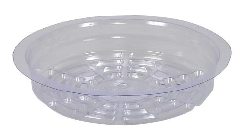 Gro Pro Clear Plastic Saucer 6 in (Case of 50)