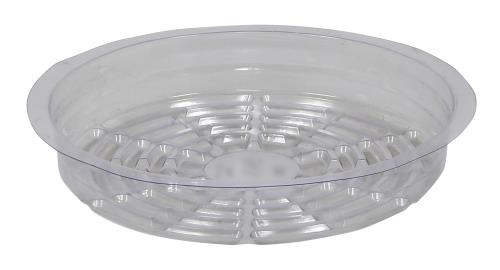 Gro Pro Clear Plastic Saucer 8 in (Case of 50)