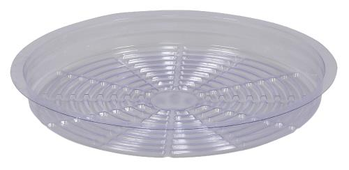Gro Pro Clear Plastic Saucer 12 in (Case of 50)