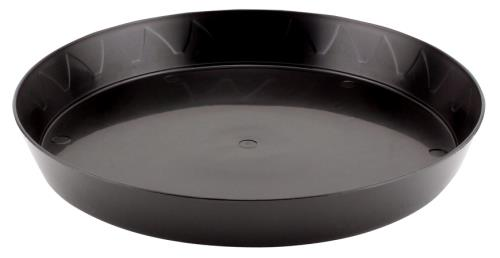 Gro Pro Heavy Duty Black Saucer - 10 in (Case of 50)