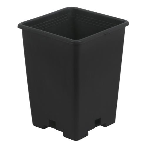 Gro Pro Black Plastic Square Pot 5 x 5 x 7 in (100/Pack)