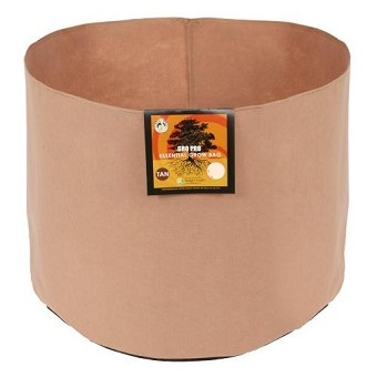 Gro Pro Essential Round Fabric Pot-Tan 1 Gallon