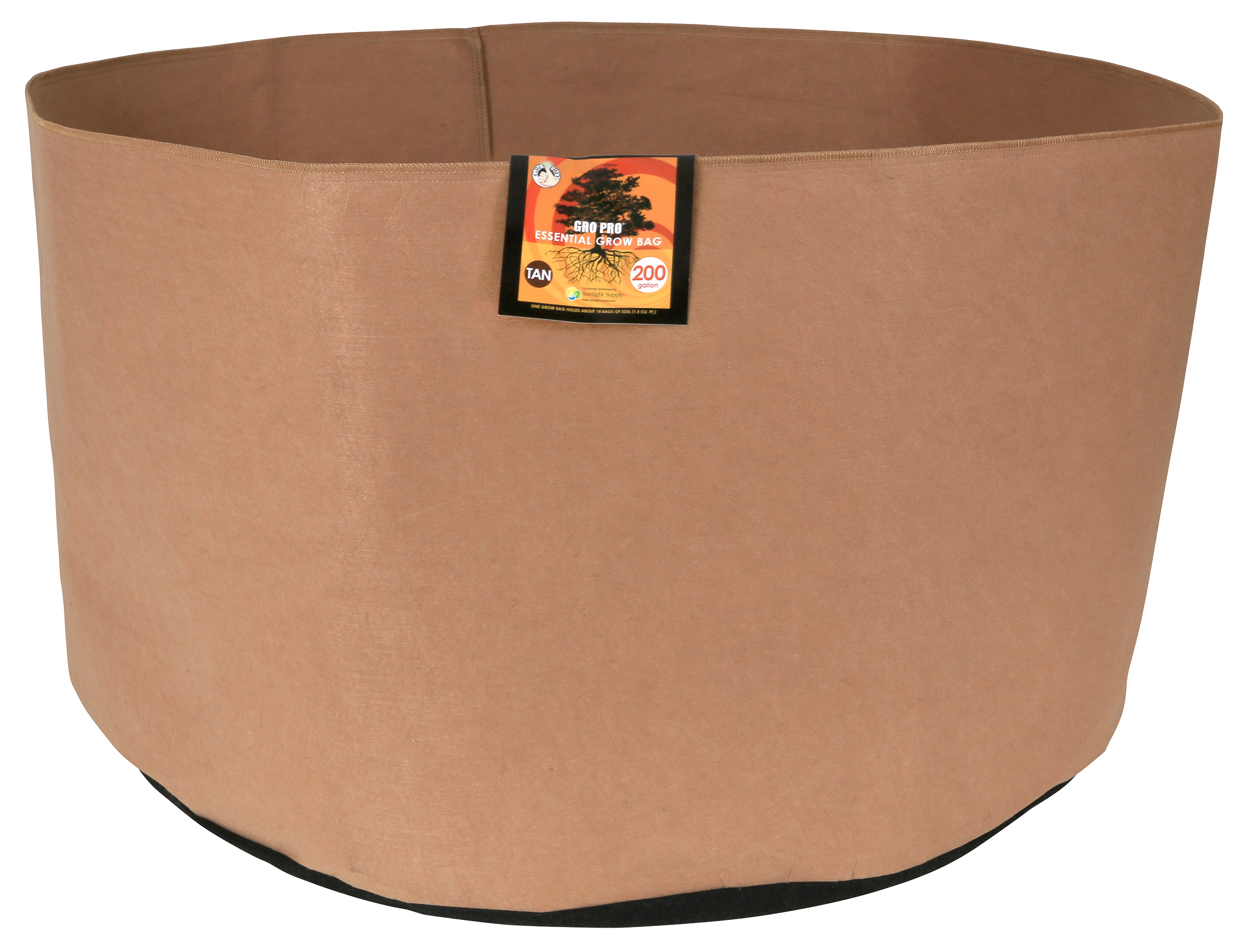 Gro Pro Essential Round Fabric Pot-Tan 100 Gallon
