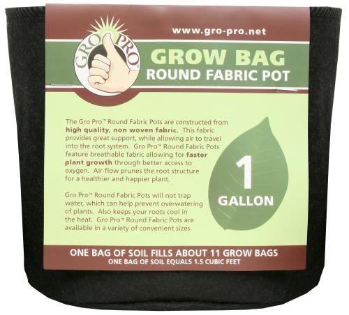 Gro Pro Round Grow Bag 1 Gallon