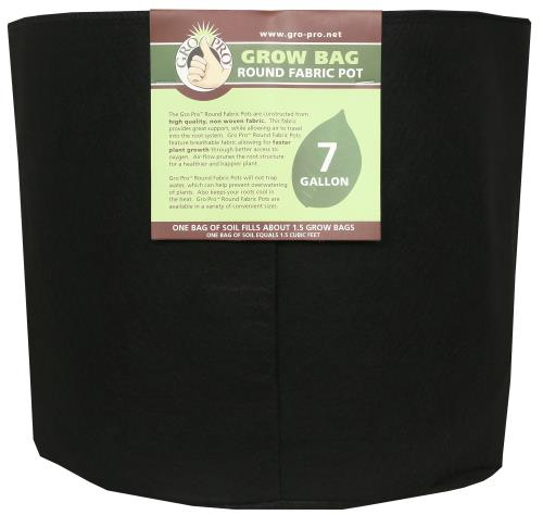 Gro Pro Round Grow Bag 7 Gallon