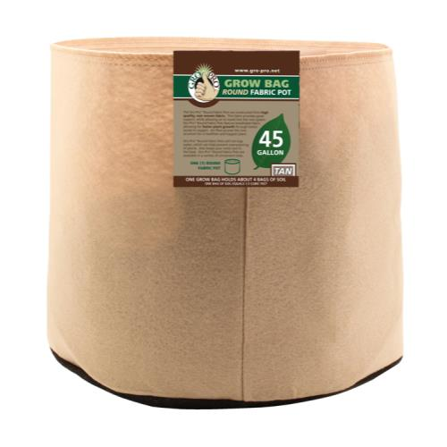 Gro Pro 45 Gallon Round Grow Bag-Tan