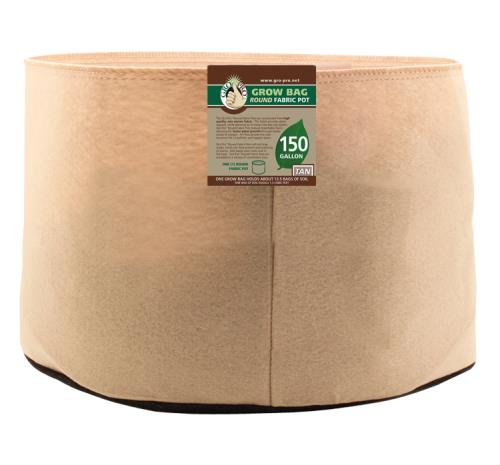 Gro Pro 150 Gallon Round Grow Bag-Tan