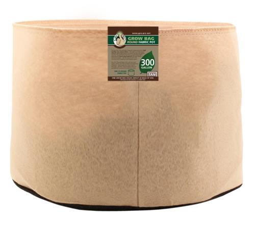Gro Pro 300 Gallon Round Grow Bag-Tan