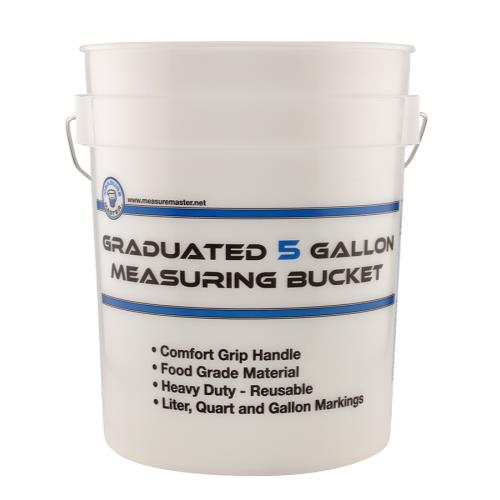 Measure Master Graduated Measuring Bucket 5 Gallon(5/Pack)