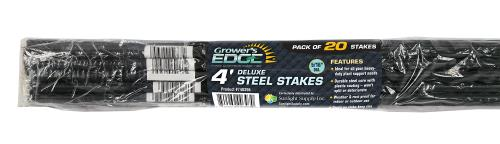 Grower's Edge Deluxe Steel Stake 4 ft (20/Bag)(Case of 20)