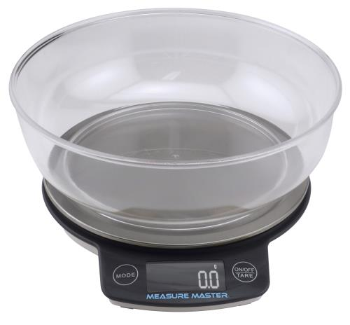 Measure Master Digital Scale w/ 1.88 L Bowl (3kg) - 3000g Capacity x 0.1g Accuracy