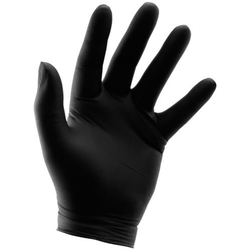 Grower's Edge Black Nitrile Gloves 6 mil - XX-Large (100/Box)