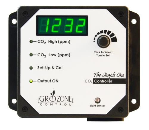 Grozone Control  Control SCO2 0-5000 PPM CO2 Controller - Simple One Series