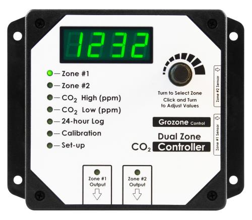 Grozone Control  Control CO2D 0-5000 PPM Dual Zone CO2 Controller