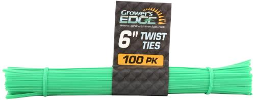 Grower's Edge Twist Tie Precut 6 in (1= 100pcs/bundle)