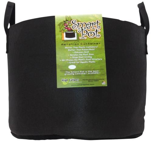 Smart Pot Black 15 Gallon w/ handles   50/Case