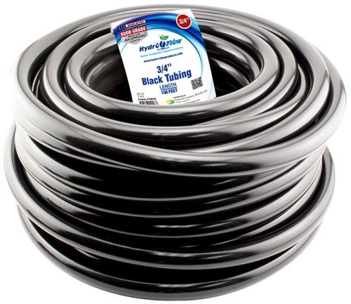 Hydro Flow Vinyl Tubing Black 3/4 in ID - 1 in OD 100 ft Roll