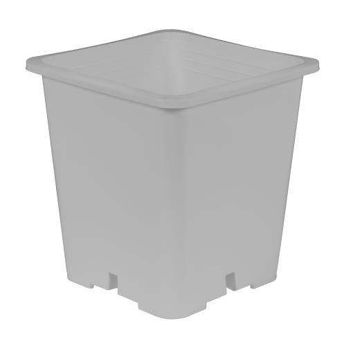 Gro Pro Premium White Square Pot 9 in x 9 in 10.5 in (20/Pack)
