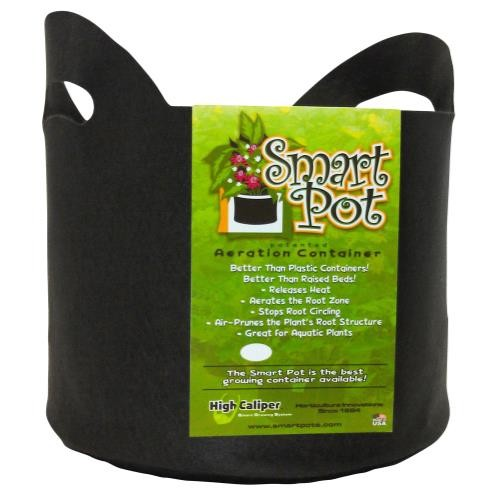 Smart Pot Black 3 Gallon w/ handles