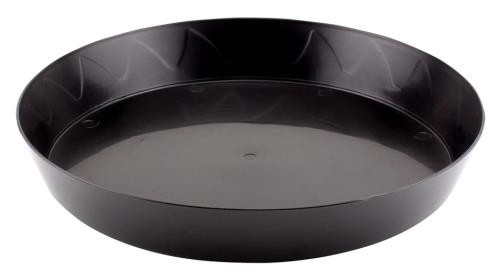 Gro Pro Heavy Duty Black Saucer - 12 in (10/pack)