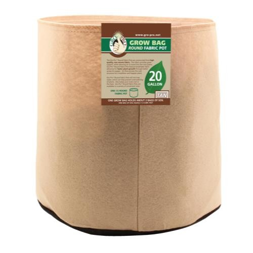Gro Pro 20 Gallon Round Grow Bag-Tan